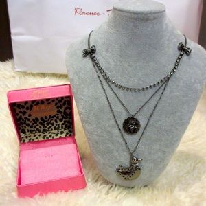 Betsey Johnson Dove 3 Tiered Necklace